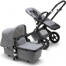 Bugaboo Cameleon3 plus Complete Black παιδικό καρότσι - Black/Grey-grey melange