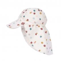Lassig παιδικό καπέλο με προστασία λαιμού - Spotted white 1433015135