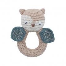 Sebra crochet κουδουνίστρα - Blinky the owl 3009318
