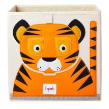 3 sprouts τετράγωνο καλάθι για τα παιχνίδια - Tiger