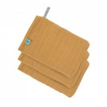 Lassig γάντι μπάνιου από μουσελίνα, σετ 3τμχ. - Mustard 1312017837
