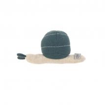 Lassig πλεκτή κουδουνίστρα - Snail blue 1313008471