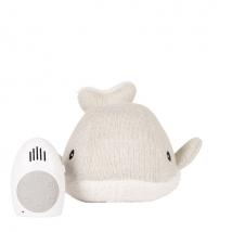 FLOW. Υφασμάτινη Φάλαινα Moby με λευκούς ήχους & μουσική - FL1655027 light grey