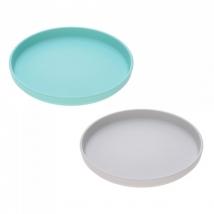Lassig πιάτο bamboo 2 τμχ. - turquoise/grey 1310020558