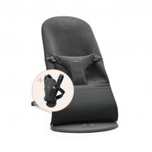 BabyBjörn Starter Kit για το νεογέννητο - Charcoal/Charcoal 3D Jersey 608076A