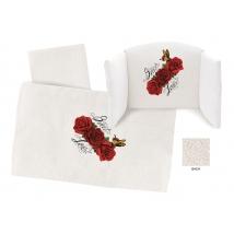 Hugs Factory μεγάλο σετ προίκας Butter - Red Roses