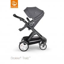 Stokke Trailz Black παιδικό καρότσι με κλασσικούς τροχούς - Black Melange
