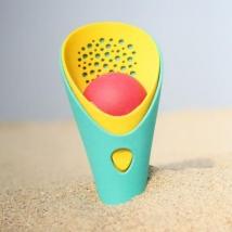Quut φτυάρι-σήτα-μπαλάκι για παιχνίδι στην άμμο - Κόκκινο QU170365