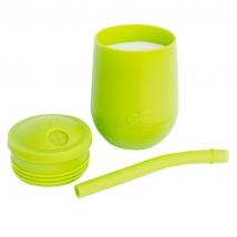 Ezpz εκπαιδευτικό ποτήρι Mini Cup + καλαμάκι Blush - Lime