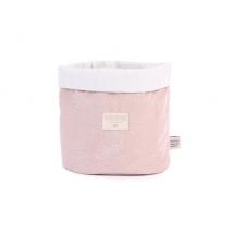 Nobodinoz Panda πάνινο καλάθι μεσαίο - white bubble / misty pink NB101354