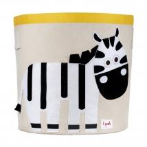 3 Sprouts καλάθι για τα παιχνίδια - Zebra