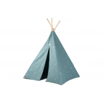 Nobodinoz Phoenix teepee - Gold confetti/Magic Green NB111452