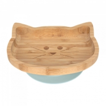 Lassig πιάτο από ξύλο & μπαμπού - Little Chums Cat