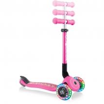 Globber πτυσσόμενο πατίνι Junior Fantasy lights - Flowers Neon Pink 433-110