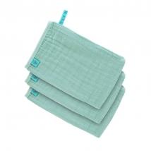 Lassig γάντι μπάνιου από μουσελίνα, σετ 3τμχ. - Mint 1312017503