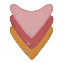 Lassig σαλιάρες bandana από μουσελίνα Set 3τμχ - 1312027972 ROSE/ROSEWOOD/MUSTARD