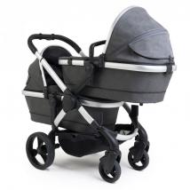 iCandy Peach Twin 2020 παιδικό καρότσι διδύμων - Satin Dark Grey Check