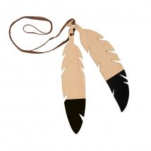 Nobodinoz ξύλινο κρεμαστό Feathers Duo - Black 87320