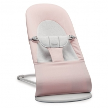 BabyBjörn ριλάξ Balance Soft, Light grey frame - Light pink/grey, Cotton/Jersey 005189