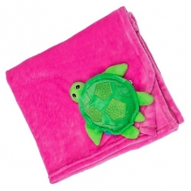 Zoocchini κουβέρτα για μωρά - Turtle/pink