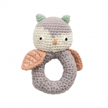 Sebra crochet κουδουνίστρα - Blinky the Owl Grey 300930042
