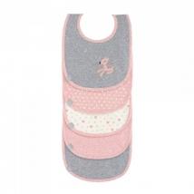 Lassig σαλιάρες σετ 5 τμχ - Lela Light pink 1311002784