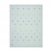 Lassig πλεκτή κουβέρτα GOTS - Dots light mint 1542005561