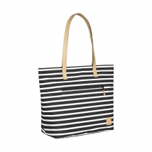 Lassig Tote striped τσάντα αλλαγής - LTOB10176 black