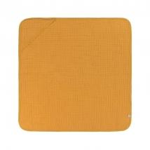 Laessig πετσέτα μπάνου με κουκούλα - Mustard 1312015837