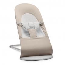 BabyBjörn ριλάξ Balance Soft, Light grey frame - Beige/grey, Cotton/Jersey 005183