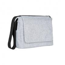 Lassig small messenger τσάντα ώμου για γονείς - Black melange