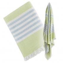 Lulujo πετσέτα-παρεό - green/blue