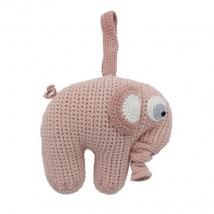 Sebra crochet μουσικό παιχνίδι - Grapefruit pink 3013206