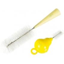 Difrax βούρτσα για θηλές & μπιμπερό - yellow