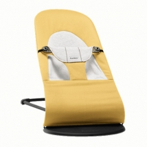 BabyBjörn ρηλάξ Balance Soft, Cotton - Yellow/Grey, Cotton/Jersey 005061