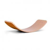 Wobbel ξύλινη σανίδα ισορροπίας με τσόχα - Rust
