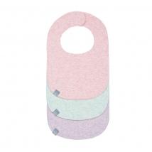 Lassig σαλιάρες για νεογέννητα σετ των 3 τμχ. - Melange pink/mint/lavender 1311001908