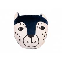 Nobodinoz Savannah velvet μαξιλάρι - Leopard night blue