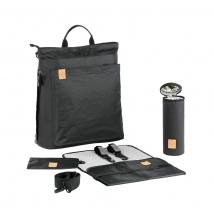 Lassig τσάντα αλλαγής Tyve Backpack - Black 1103011009