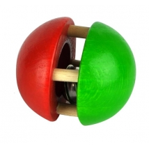 Voggenreiter ξύλινη κουδουνίστρα μπάλα - 1134 πράσινο/κόκκινο