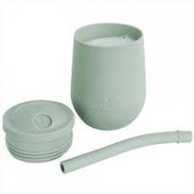Ezpz εκπαιδευτικό ποτήρι Mini Cup + καλαμάκι Blush - Sage