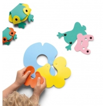 Quut παιχνίδι μπάνιου puzzle ζωάκια - Βατραχάκια QU171140