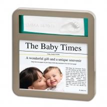 BabyArt κορνίζα γλυπτικής με εφημερίδα - taupe/lime plum  34120088