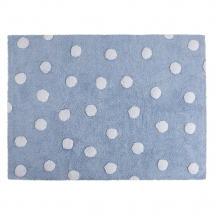 Lorena Canals παιδικό χαλί Dots - Topos blue/white C-00082
