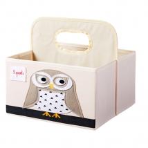 3 Sprouts τσάντα-θήκη για πάνες - Owl