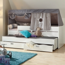 Paidi Fiona υπερυψωμένο, διπλό κρεβάτι