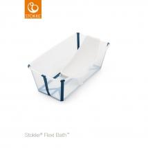 Stokke® Flexi Bath® μπανάκι Bundle - Διάφανο μπλε