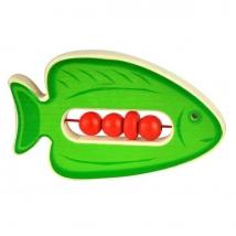 Voggenreiter ξύλινη κουδουνίστρα ψάρι - 1135 πράσινο
