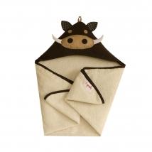 3 sprouts πετσέτα με κουκούλα - Warthog