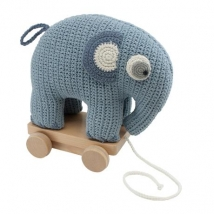 Sebra τροχήλατο ελεφαντάκι crochet - Crochet classic powder 300110023